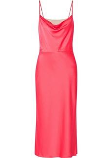 Jason Wu Woman Satin-crepe Midi Dress Bubblegum
