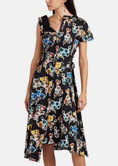JASON WU Women's Abstract-Floral Cotton Sateen Asymmetric Shirtdress