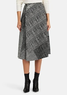 JASON WU Women's Abstract-Plaid Virgin Wool Asymmetric Midi-Skirt