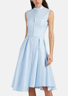 JASON WU Women's Bustier-Front Cotton Twill Midi-Dress