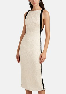 JASON WU Women's Satin Cloqué Cocktail Dress