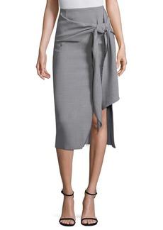 Wool Canvas Wrap Skirt