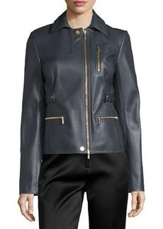 Jason Wu Zip-Pocket Lamb Leather Field Jacket