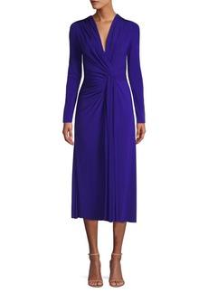 Jason Wu Jersey V-Neck Long Sleeve Twist Cocktail Dress