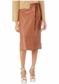 Jason Wu Lambskin Leather Tie Skirt