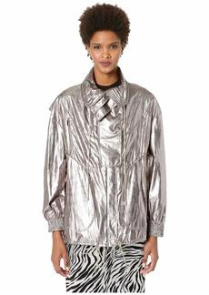 Jason Wu Metallic Foil Drawstring Jacket