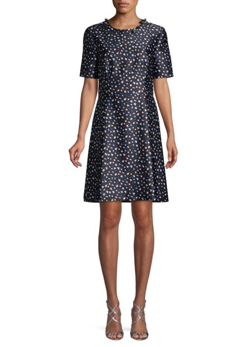 Jason Wu Mini Floral-Print A-Line Dress