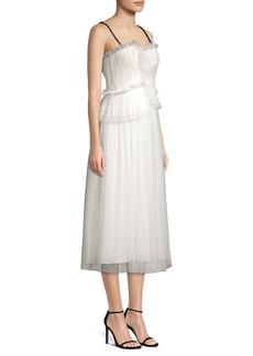Jason Wu Mini Web Tulle Lace Dress
