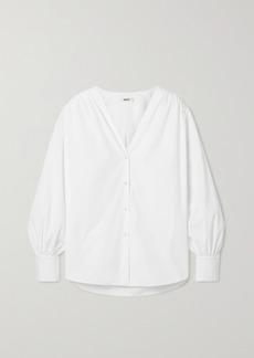 Jason Wu Oversized Cotton-blend Poplin Shirt