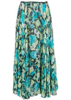 Jason Wu patterned pleated skirt