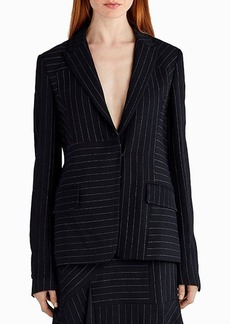 Jason Wu Pinstripe Stretch Crepe Jacket