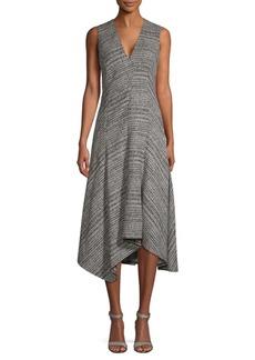 Jason Wu Plaid Wool Hi-Lo Dress