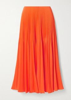 Jason Wu Pleated Crepe Midi Skirt
