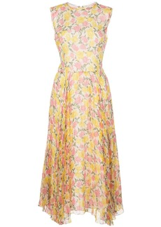 Jason Wu pleated floral print dress
