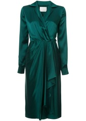 Jason Wu pleated front wrap dress