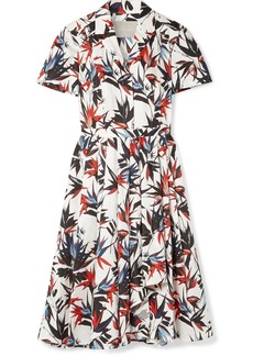 Jason Wu Pleated Printed Cotton-poplin Dress