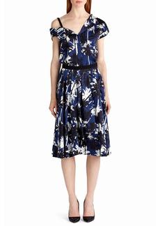 Jason Wu Pop Palm-Print Skirt