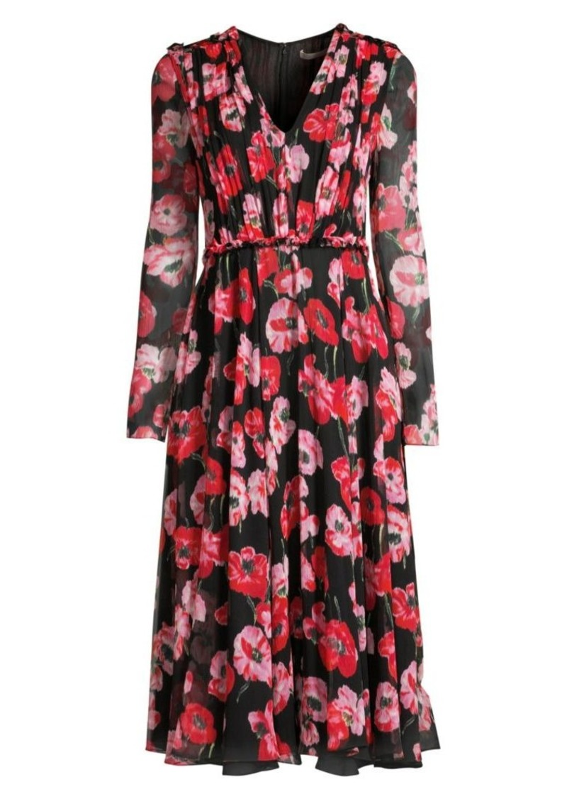 Jason Wu Poppy-Print Crinkle Silk Chiffon Day Dress