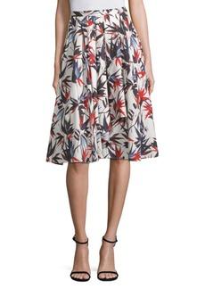 Printed Cascade A-Line Skirt