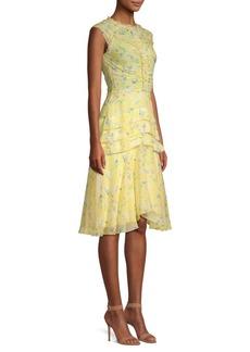 Jason Wu Printed Silk Chiffon Dress