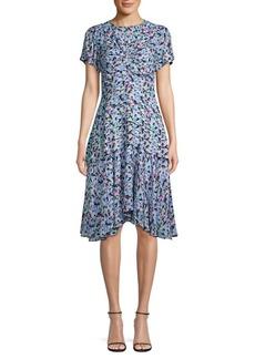 Jason Wu Printed Silk Georgette Cap Sleeve Dress