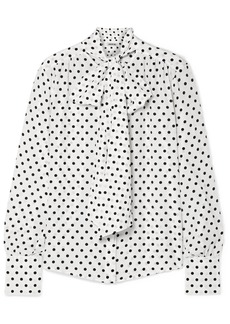 Jason Wu Pussy-bow Polka-dot Silk Crepe De Chine Blouse