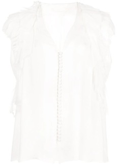 Jason Wu ruffle sleeve button blouse