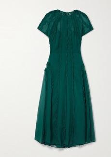 Jason Wu Ruffled Crinkled Silk-chiffon Midi Dress