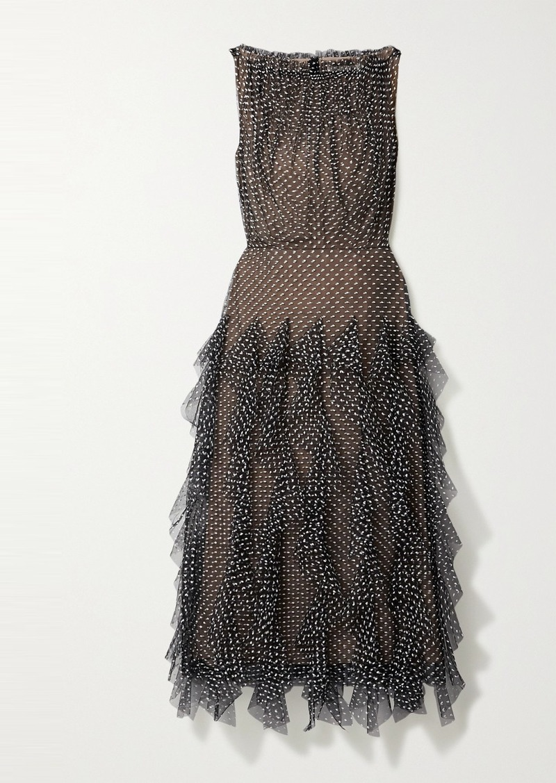 Jason Wu Ruffled Fil Coupé Cotton-blend Tulle Midi Dress