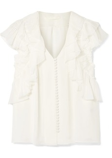 Jason Wu Ruffled Silk-chiffon Blouse