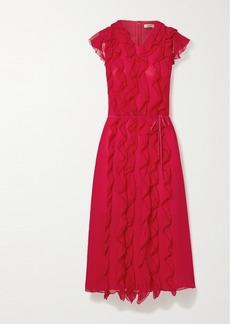Jason Wu Ruffled Silk-georgette Midi Dress