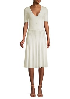 Jason Wu Short-Sleeve Knit Pleated Dress