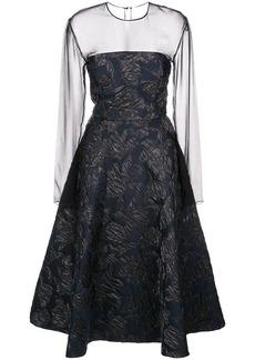 Jason Wu silk A-line midi dress