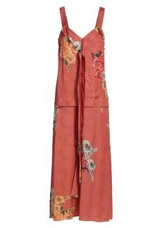 Jason Wu Snakeskin Jacquard Silk Day Dress