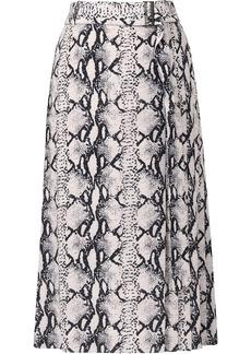 Jason Wu snakeskin-print wrap silk skirt