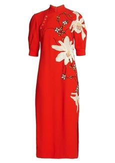 Jason Wu Soft Crepe Midi-Dress