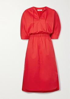 Jason Wu Stretch-cotton Poplin Midi Dress
