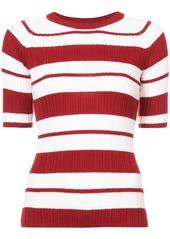 Jason Wu striped knitted top