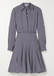 Jason Wu Striped Poplin Mini Shirt Dress