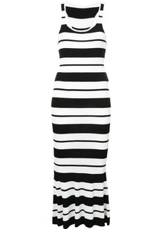Jason Wu striped ribbed knit dress