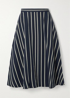 Jason Wu Striped Twill Midi Skirt