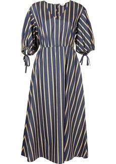 Jason Wu striped V-neck dress