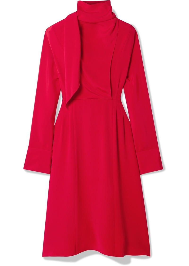 Jason Wu Tie-neck Draped Georgette Dress
