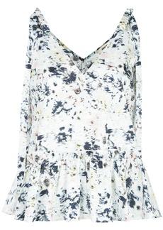 Jason Wu tie-shoulder printed blouse