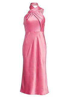 Jason Wu Twisted Satin Cocktail Dress