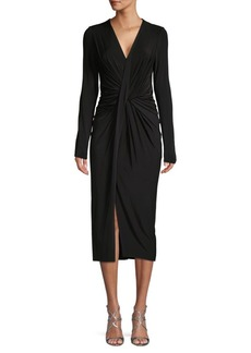 Jason Wu V-Neck Velvet Midi Dress