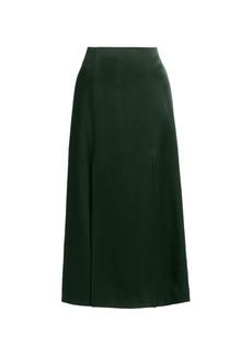 Jason Wu Vented Satin Midi Skirt