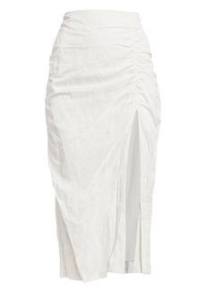 Jason Wu Washed Sateen Ruched Skirt