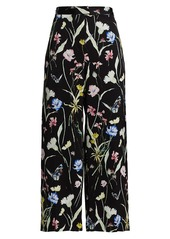 Jason Wu Wide-Leg Floral Pajama Trousers