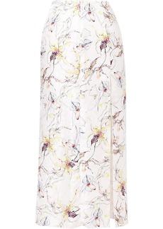 Jason Wu wild orchid silk satin jacquard skirt